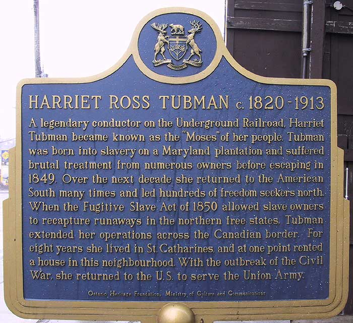 Harriet Ross Tubman Plaque