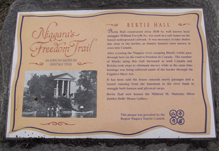 Bertie Hall Plaque